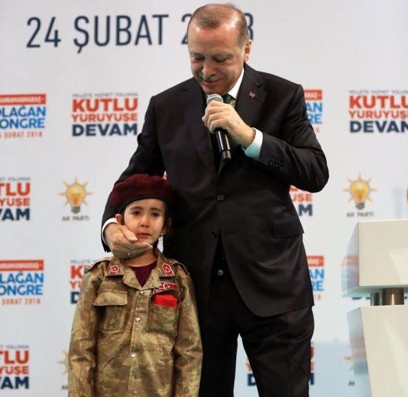 土耳其总统鼓励小女孩为国